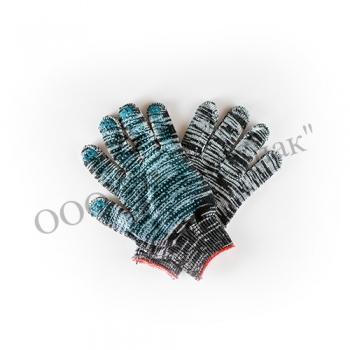 Перчатки рабочие х/б 4-х ниточные с ПВХ покрытием графит